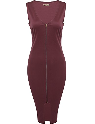 Zip Front Sheath Dress - 2