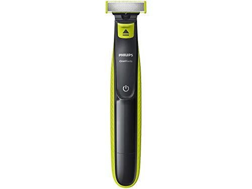 Aparador de Barba, Philips, OneBlade QP2521/10, Cinza Chumbo/Verde Limão