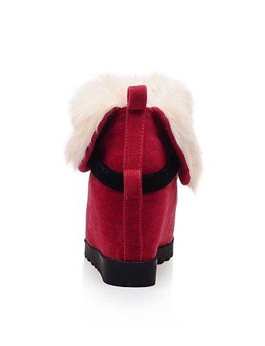La us9 Eu41 A Amarillo Tacón Mujer us5 Cn35 Redonda Uk3 Vellón 10 Cuñas Vestido Eu36 Cuña Casual Zapatos Uk7 De 5 Red 5 Moda Red 5 Botas 8 Cn42 5 Punta negro Rojo Xzz CqvFz