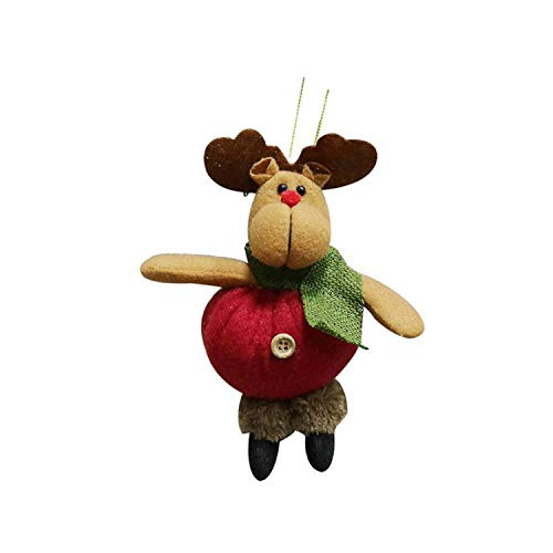 Noon-Sunshine decorative-plaques 1Pcs Santa Claus/Snowman/Deer Merry Christmas Doll Tree Pendant Ornament Home Christmas Party Xmas Tree,F