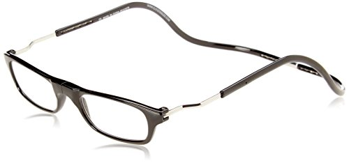CliC Magnetic Closure Reading Glasses XXL with Adjustable Headband Black 1.50