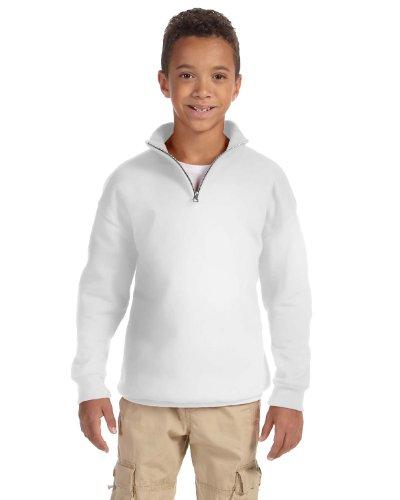 Jerzees Youth 8 oz., 50/50 NuBlend Quarter-Zip Cadet Collar
