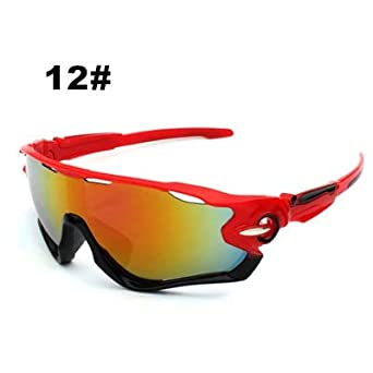 44ac8fadb3ba3 BUILD HOT Brand Cycling Glasses MTB Glass Mens Sports Glasses Women Sport  Sunglasses Glasses for a Bicycle Goggles Gafas Ciclismo 12  Amazon.in   Clothing   ...