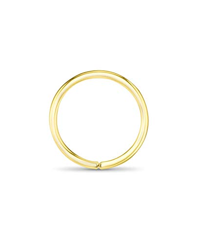 14k Yellow Gold Nose Hoops Seamless Nose Rings 5/16