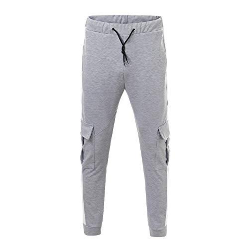 haoricu Men Sweatpants, Men Casual Sportswear Elastic Fitness Pants Workout Running Gym Trousers