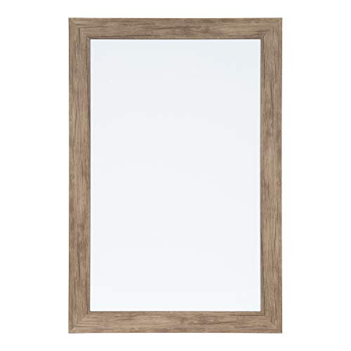 DesignOvation Beatrice Framed Magnetic Dry Erase Board, 18x27, Rustic Brown ()