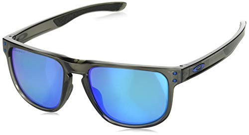 Oakley Men's Holbrook R Polarized Iridium Square Sunglasses, GREY SMOKE, 55.0 ()