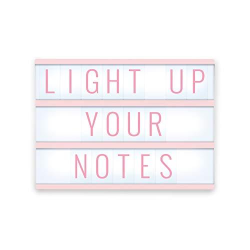 Merkury Innovations Light Up Box LED Message Letter Board Sign