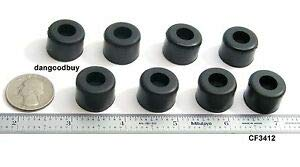 "100 Hard Rubber Bumpers ""Rubber Feet 3/4'' Diameter 1/2'' Height Temperature Range of –25° to +180° F. Material is nonmarking."