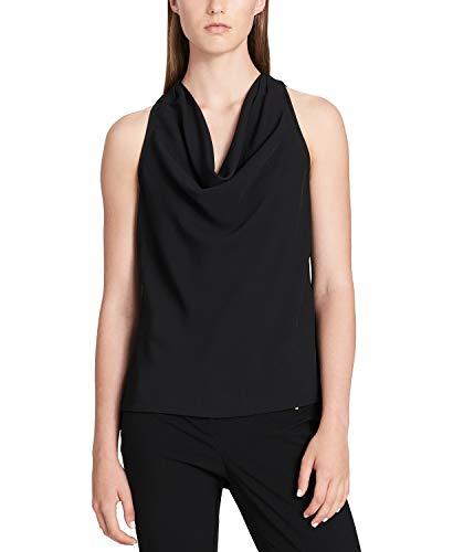 Calvin Klein Women's Charmeuse Cowl-Neck Top Black Large ()