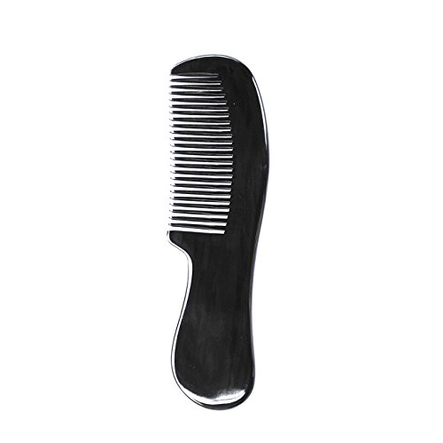 Price comparison product image Marycrafts Buffalo Horn Beard Comb Moustache Combs Anti Static Hair Comb Black