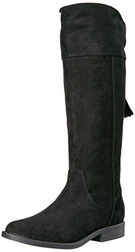 Sugar Girls' Powdered Pull-on Boot, Black Suede, 3 M US Little Kid (Suede Sugar)