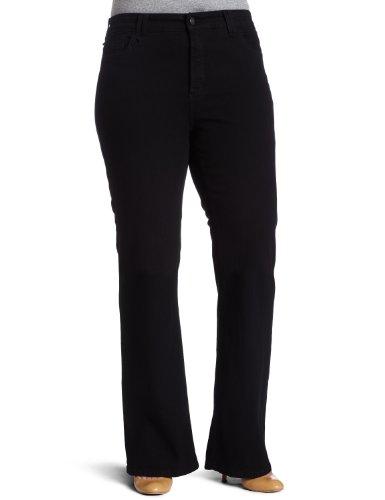 NYDJ Petite Plus-size Hayden Bootcut Jeans, Black, 14WP