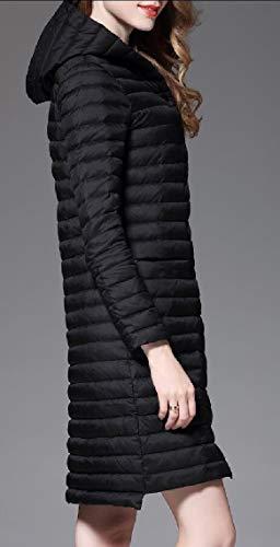 Black Down Puffer Lightweight Women's TTYLLMAO Hooded Coats Jackets qg04yw6