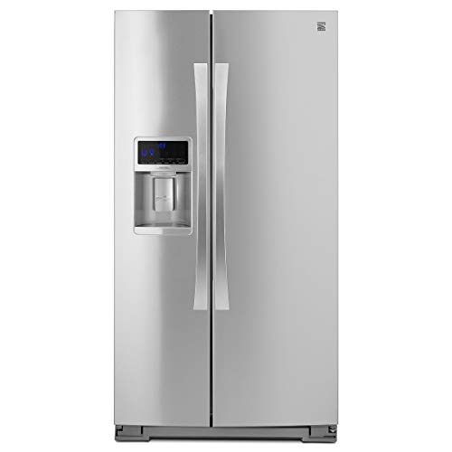 Kenmore Elite  28 cu. ft. Side-by-Side Refrigerator with Accela Ice Technology and  Kenmore Elite  6.1 cu. ft. Self Clean Double Oven bundle, both in Stainless Steel, includes delivery and hookup