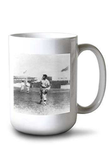 Lantern Press Christy Mathewson, NY Giants, Baseball Photo #5 (15oz White Ceramic Mug)