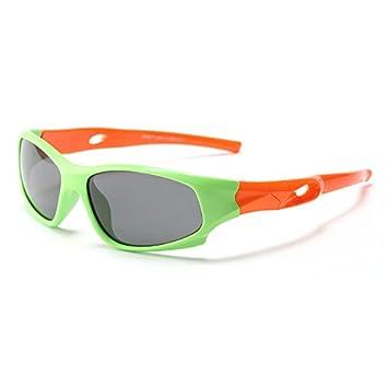 Yao Gafas de Sol para Niños, Gafas de Sol polarizadas Estilo Deportivo Marco Flexible de