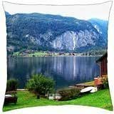 Lakeshore houses - Throw Pillow Cover Case (18