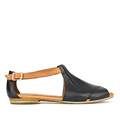 Airflex Fedora Womens Leather Casual Black 5