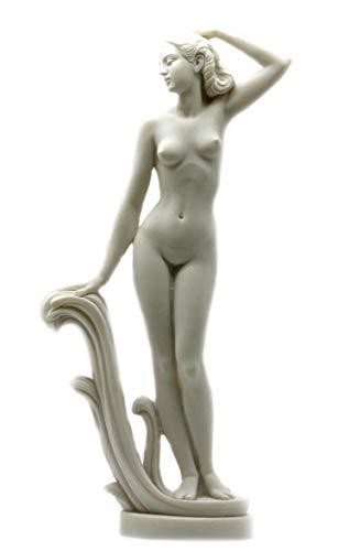- Goddess Aphrodite Venus Nude Female Figure Alabaster Statue Sculpture 12''