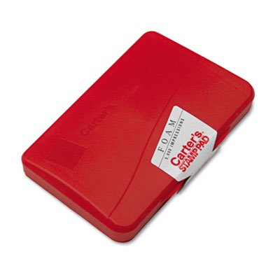 CARTERS 21371 Foam Stamp Pad, 4 1/4 x 2 3/4, Red
