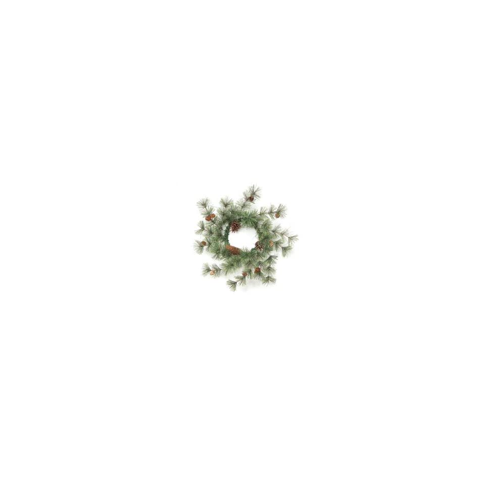 6 Rustic Lodge Artificial Pine w/Pine Cones Christmas Wreaths   Unlit 20
