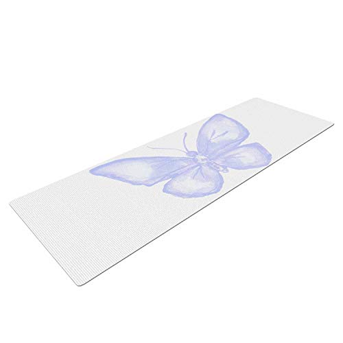 (Yummy Eletina Jennifer Rizzo Lavender Butterfly Purple White Mat, 72