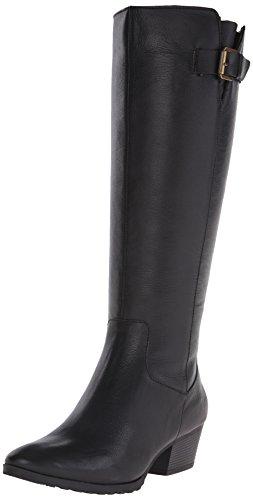Bandolino Women's Tadao Leather Western Boot, Black, 6.5 M US - Bandolino Leather Platforms