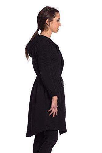Abbino 3386 Chaquetas para Mujeres - Hecho en ITALIA - 7 Colores - Entretiempo Primavera Verano Otoño Mujeres Blazers Nuevo Estilo Clásico Venta Elegante Casual Deportivas Rebajas - Talla única Negro