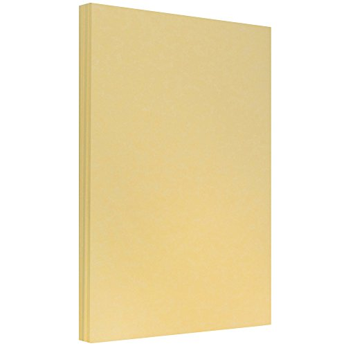 JAM PAPER Legal Parchment 24lb Paper - 8.5 x 14 - Antique Gold Recycled - 100 Sheets/Pack ()