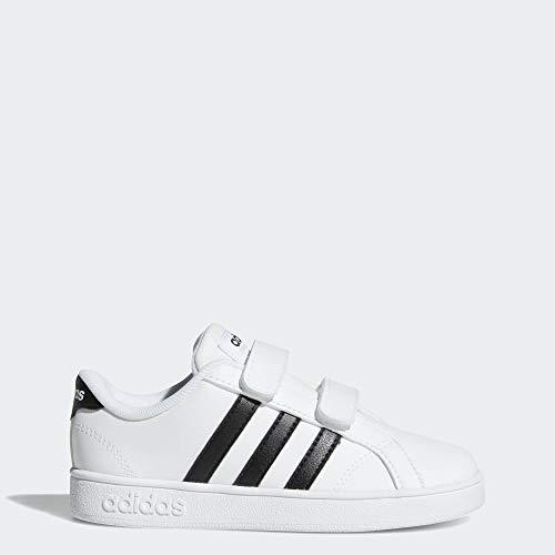 adidas Performance Baby Baseline Sneaker, White/Black/White, 5K M US Toddler (Baby Sneakers Girls)