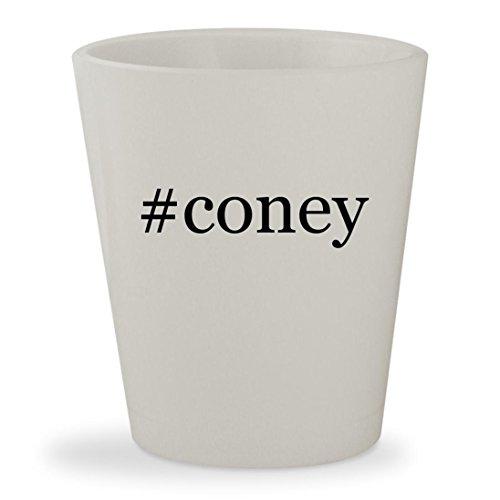#coney - White Hashtag Ceramic 1.5oz Shot Glass