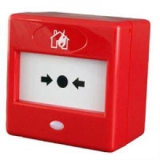 FA22 - RED FIRE MANUAL PULSADOR DE ALARMA PROFESIONAL DE LAS FINANZAS Y DE COMBINACIÓN CON WINDOWS CON LUZ LED