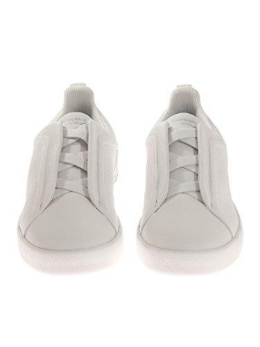 Z Hommes Zegna A2511xvalbia Chaussures De Sport En Cuir Blanc