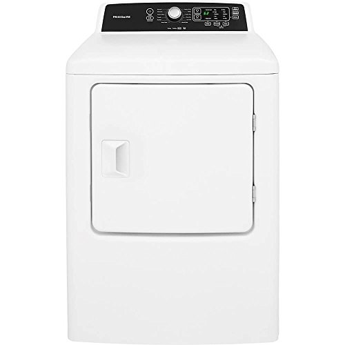 Frigidaire FFRE4120SW 30 Inch Electric Dryer with 6.7 cu. ft. Capacity, 10 Dry Cycles, 5 Temperature Settings, Delay Start, DrySense in White