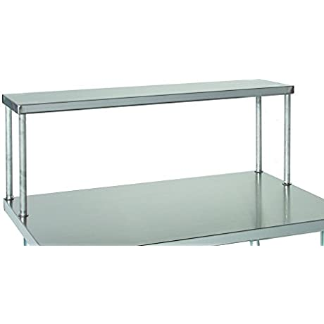 Tarrison SOS1284 Heavy Duty 18 Gauge Stainless Steel Top Single Work Table Overshelf 84 Length X 18 Height X 12 Depth