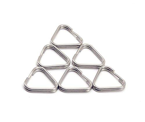 - HITHUT 6pcs Stainless Steel Keychain Ring Triangular Split Rings for Camera Straps