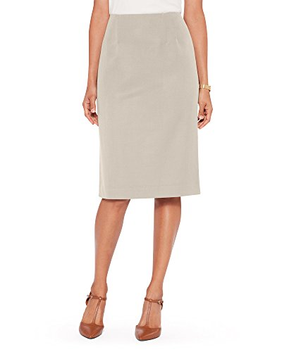 Pendleton Womens Seasonless Wool Pencil Skirt - 12, Beige by -