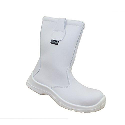 Jal Group - Chaussures De Protection Homme Blanc En Cuir Blanc uJAIcWBU