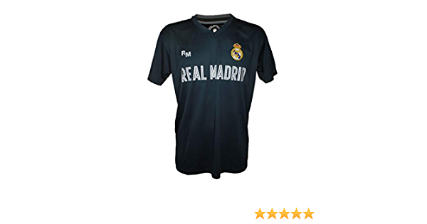 Camiseta Attack Infantil Real Madrid Producto Oficial Azul Petroleo - Segunda Equipacion