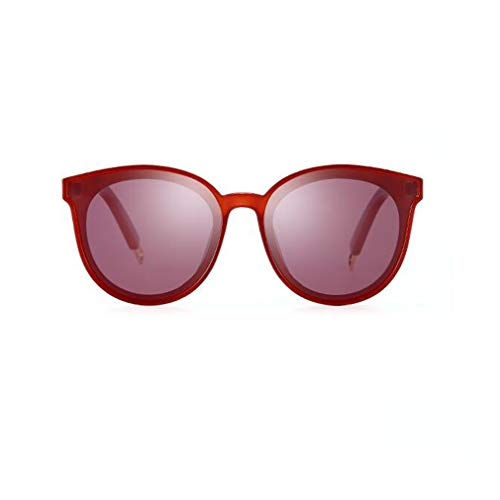 Bycsd Pour Style Femmes Rétro Cateye couleur Soleil Les Color Lunettes Rouge Classique Tea De rqUrwX8