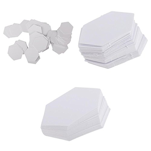 Dovewill 300 Pieces Hexagon Shape Paper Quilting Template English Paper Piecing for DIY Patchwork