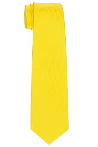 Preppy Plain Woven Microfiber Boy's Tie (8-10 years) - Yellow