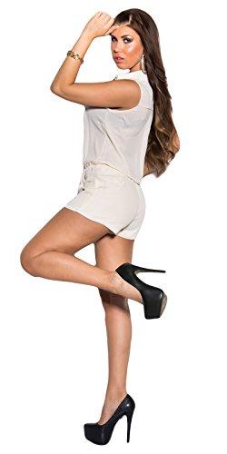Miss Li - Pantalón de peto - para mujer Beige
