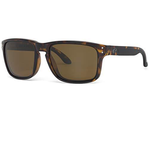 BNUS Italy made Corning Real Glass Lens Polarized Sunglasses for men women (Tortoise/Brown B15 Polarized, Polarized Size:56mm(M)) (Ray-ban-brown-fall)
