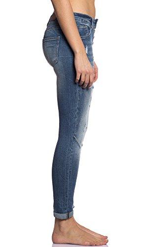 Fit Multiplo Transizione Slim Libero Comodo Tenerezza Cg004 Skinny Primavera Regular Donna Mezza Stagione Eleganti Modello Dinamico Giovane 3d Abbino 948 Estate art Jeans Colori Casual Blu fwtqt60