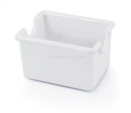 New Star Foodservice 28461 Plastic Sugar Packet Holder, White, Set of (Sugar Caddy Packet Holder)
