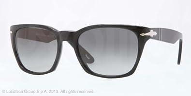 12c8924947 Amazon.com  Persol PO3058S Sunglasses-95 71 Black (Crystal Gradient ...
