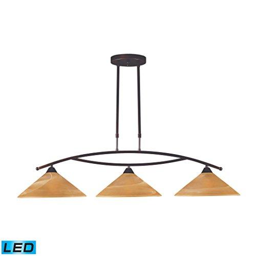 ELK 6552/3-LED, Elysburg Chandelier Lighting, 3 Light LED, Aged Bronze
