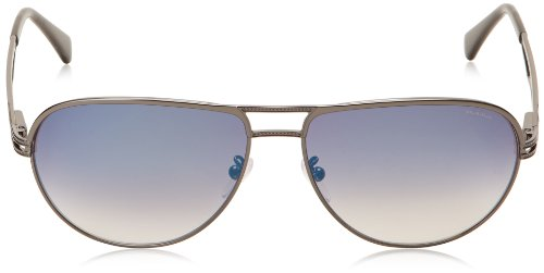 Azul de Gunmetal del para Hombre Talla única fabricante One S8754 size Sol Shiny Gafas Police Talla nYWpqSwfxC